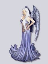 Amy Brown Blue Angel Fairy Statue Figurine Faery NIB Feather Wings