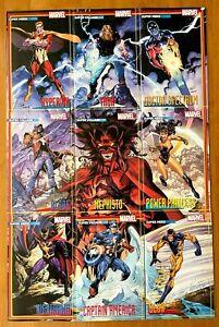 HEROES REBORN #1,2,3,4,5,6,7 + HEROES RETURN 1 Bagley Trading Card Connecting NM
