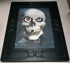 "RARE GEMMY PIRATE SKULL TALKING ANIMATED 3-D HALLOWEEN 15"" X 12"" PICTURE FRAME"