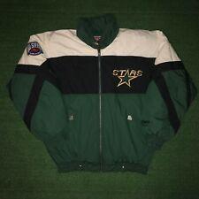 RARE Vintage NUTMEG Campri NHL Hockey Western Conference Dallas Stars Jacket - L