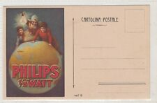VINTAGE POSTCARD  FHILIPS ELECTRIC LIGHTS ADVERTSING  SPAIN   1900s