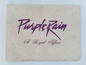 PRINCE Purple Rain World Tour Private Party Invitation 1984
