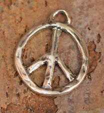 Artisan Handcrafted, Pp1 Sterling Silver Peace Pendant,