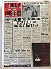 MUSIC & VIDEO WEEK MAGAZINE   13 JUNE 1981  THE ROLLERS/ BAY CITY ROLLERS     LS