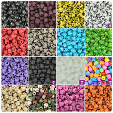 BeadTin Halloween 11mm Skull Pony Beads (150pcs) - Over 40 style choices!!!