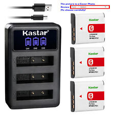 Kastar Battery Triple Charger for Sony NP-BG1 NP-FG1 & Sony Cyber-shot DSC-W55