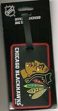 Chicago Blackhawks ID Tag Luggage Travel ID Bag Tag Team Colors NHL