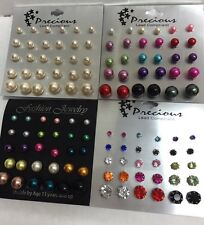 Wholesale lot of 60 Pairs of Assorted Stud Earrings New Jewelry