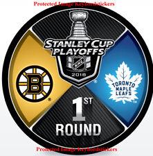 2018 NHL Stanley Cup Playoffs Hockey Puck Toronto Maple Leafs vs Boston Bruins