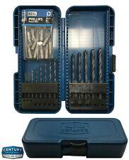 Century (13) Black Oxide Shank Drill Set 1/16 - 1/4 & (10) #2 Philips Screw Bit
