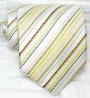 Cravatta righe Uomo Nuova 100% seta Top quality Made in Italy marca Morgana