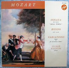 Mozart- INGRID HAEBLER- Piano- 1962 French Pressing-SONATA-RONDO-VARIATIONS-Vox