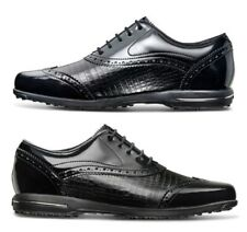 FootJoy FJ Tailored Collection Womens Golf Shoes Spikeless Size 7 Black Wingtip