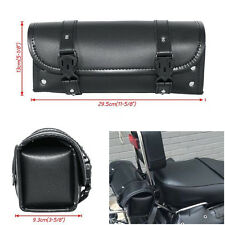 New Motorcycle Tool Bag PU Leather Luggage Saddlebags Roll Barrel Storage Pouch
