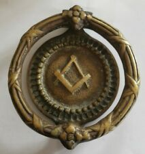 Antique Brass Masonic Door knocker