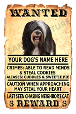 Tibetan Terrier Dog Wanted Poster Flex Fridge Magnet Personalized Name