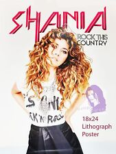 Shania Twain Rock This Country Tour VIP Rare Lithograph Poster