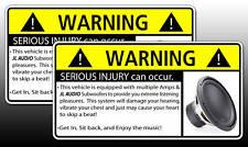 JL Audio Subwoofer BASS AMP Warning Sticker Decal W3
