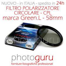 Filtro Polarizzatore Green.L  CPL 58mm Canon Nikon Sony HD