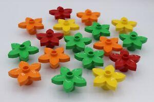 LEGO Duplo - 3 Stück Blumen Blüten Blümchen  !!! bunt gemischt !!! 6510