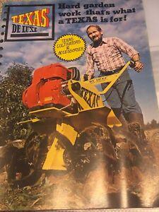 Vintage Texas De Luxe Cultivators Brochure