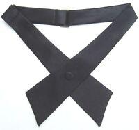 All Black Satin Tuxedo Continental Tie Western Rodeo Crossover Equestrian Cowboy