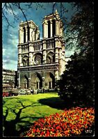 ⫸ 941 Chrome Postcard Notre Dame Facade, Paris – Not Posted