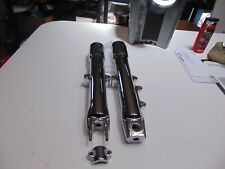 HARLEY CHROME  FORK LEGS SLIDERS FATBOY  HERITAGE  DELUXE  2008 - 2010 OUTRIGHT