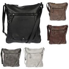 ab6f4d40aa004 Damen Schultertasche Umhängetasche Handtasche Tasche Leder Optik Crossover  Bag