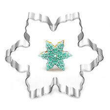 Stainless Steel Star Snowflake Biscuit Cutter Cookie Fondant Cake Mold DIY Tool