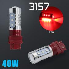 2X 3157 Red LED Flash Strobe Blinking Alert Safety Brake Tail Stop Light Bulbs