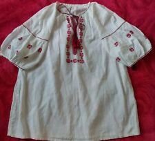 Ukrainian vintage embroidered blouse,girls 7-9y,cotton,handiwork, Ukraine