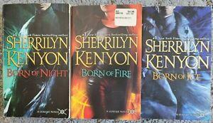 SHERRILYN KENYON THE LEAGUE BORN SERIES PARANORMAL ROMANCE 3 BOOK LOT FREE SHIP