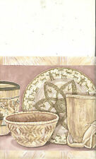 Southwest Pottery And Baskets Wallpaper Border