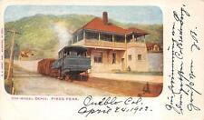 COG WHEEL TRAIN DEPOT PIKES PEAK COLORADO POSTCARD 1902
