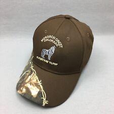 Monarch Crest Colorado Brown Camo Barb Wire Logo Hat Adjustable Strap Back Cap