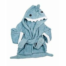 Pollywog Baby Shark Towel Robe - Blue Thick Terry Cloth Shark Robe Towel 1-2