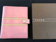 FILOFAX/ORGANISER-CROSS A5~FROSTY PINK/CHAMPAGNE LEATHER BOXED & MATCHING PENCIL
