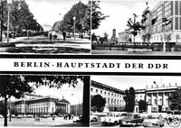 AK, Berlin Mitte, vier Abb., 1968