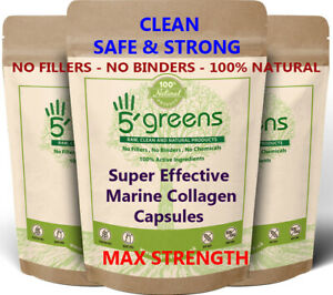 Collagen Capsules Tablets 2000mg Hydrolysed Marine Type 1 Max Strength Skin Hair
