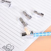 Pencil Sharpener Bevelled Practical Stationery Single Hole Aluminum Alloy UR