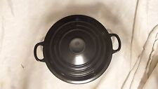 LE CREUSET #20 BLACK ONYX DUTCH OVEN & LID FRANCE  USED 2.25 QUART NR DAILY SHP