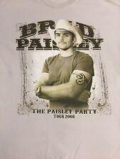 Brad Paisley Party Tour 2008 concert T Shirt Size L
