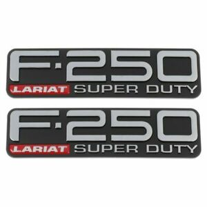 Ford F250 F-250 Super Duty Lariat LH and RH Fender Emblems Badges 1999-2004