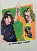 SNL Waynes World Birthday Greeting Card Vintage 90's New Party On
