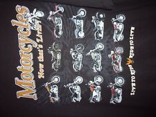 Motorcycles black graphic XL live to ride ride to live t shirt