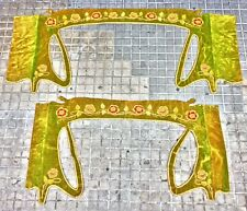 PAIR OF GREAT GALLERIES FOR CURTAINS. VELVET. ART NOUVEAU. FRANCE. END XIX