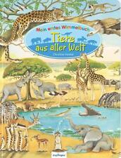 Gebundene-Ausgabe Bilderbücher mit Wimmelbuch für Tiere