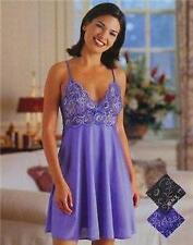WOMEN SEXY LINGERIE COBALT BLUE LACE BODICE CHEMISE NIGHTIE SMALL - 8-10