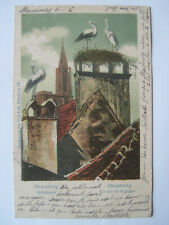 cpa  postkarte strassburg storchnest strasbourg nid de cigogne 1912 felix luib